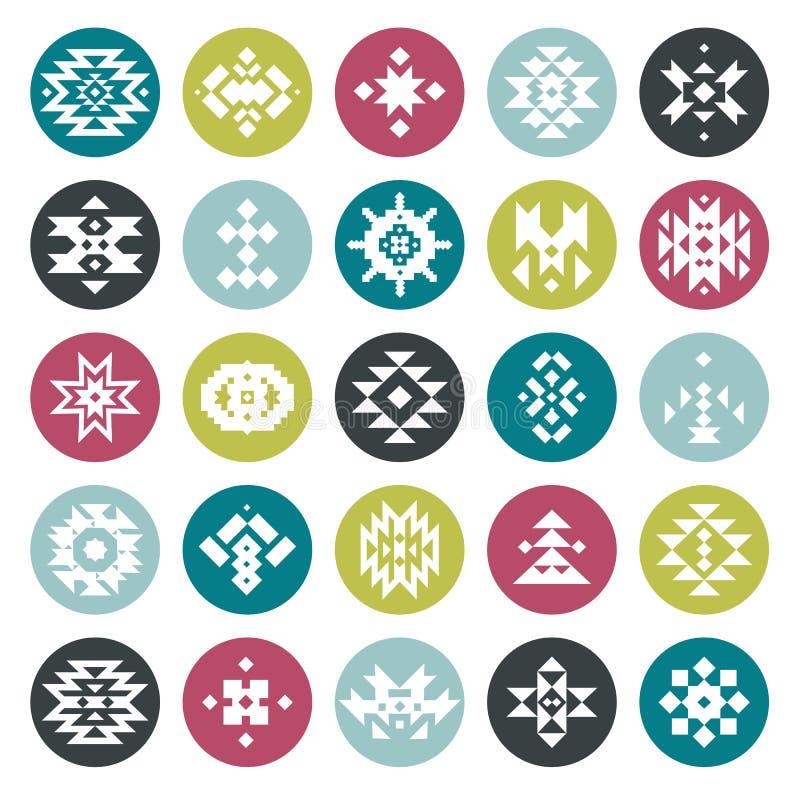 Геометрические элементы конспекта цвета вектора иллюстрация штока