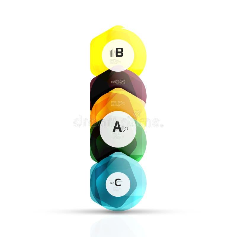 Геометрические элементы aqua шестиугольника стоковое изображение rf