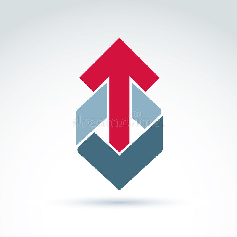 Геометрический абстрактный символ с стрелкой, elem дизайна векторной графики бесплатная иллюстрация