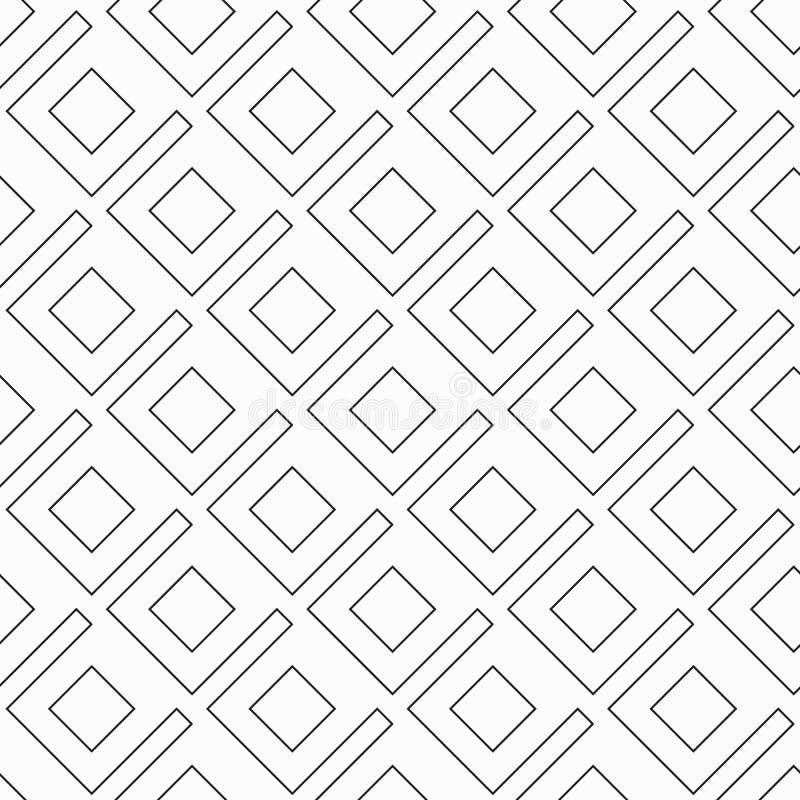Геометрический векторный узор для фиктивной вышивки, повторяющийся линейно-квадратным бесплатная иллюстрация