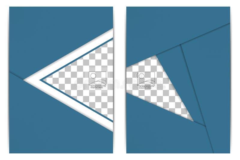 Геометрический дизайн брошюры дела с пустым пространством для изображений иллюстрация вектора