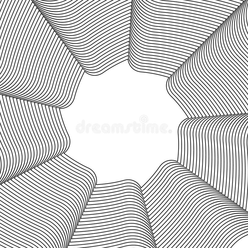 Download Геометрический круговой элемент - вращая спираль, форма свирли Иллюстрация вектора - иллюстрации насчитывающей гипноз, кругово: 81812216