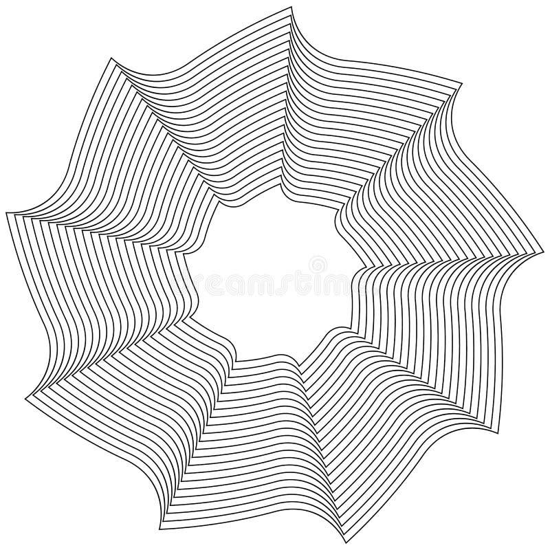 Download Геометрический круговой элемент - вращая спираль, форма свирли Иллюстрация вектора - иллюстрации насчитывающей форма, круг: 81812223