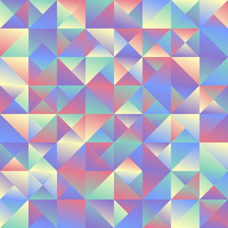 Геометрический минимальный динамический дизайн предпосылки треугольника мозаики градиента иллюстрация штока