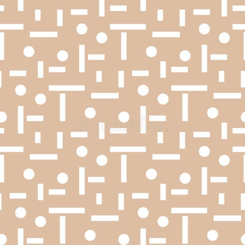 геометрический орнамент Бежевая и белая безшовная картина бесплатная иллюстрация