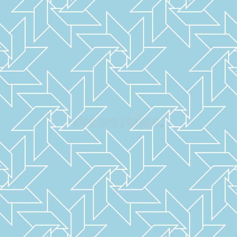 геометрический орнамент Картина сини военно-морского флота и белых безшовная бесплатная иллюстрация