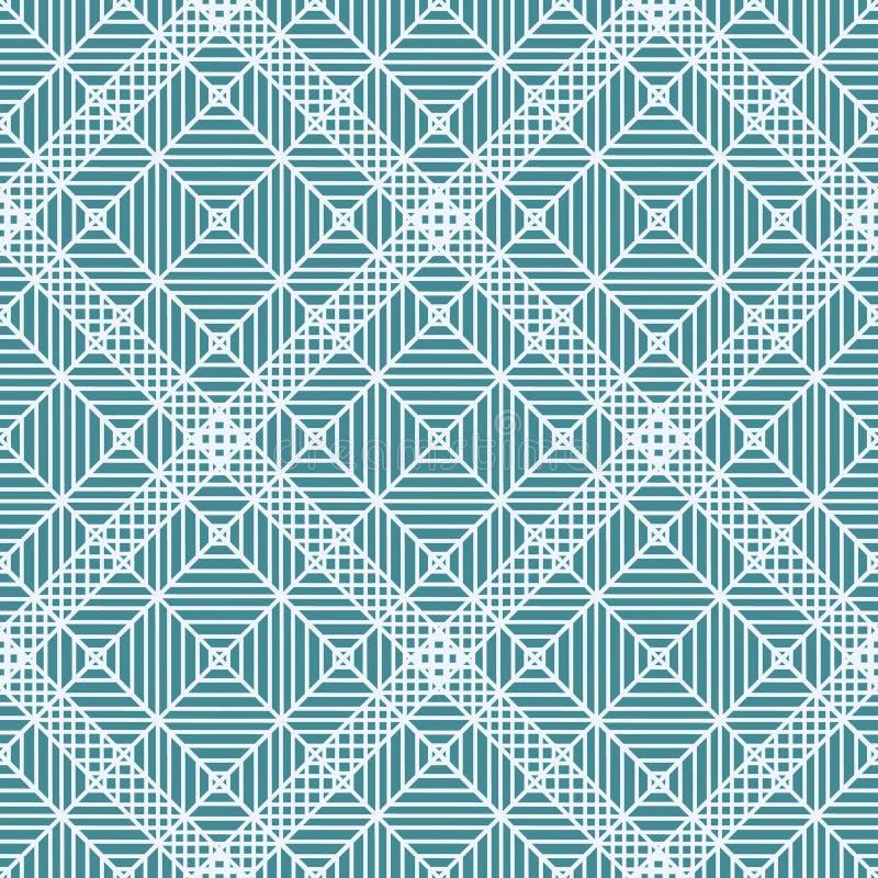 геометрический орнамент Картина сини военно-морского флота и белых безшовная для сети, ткани и обоев иллюстрация вектора