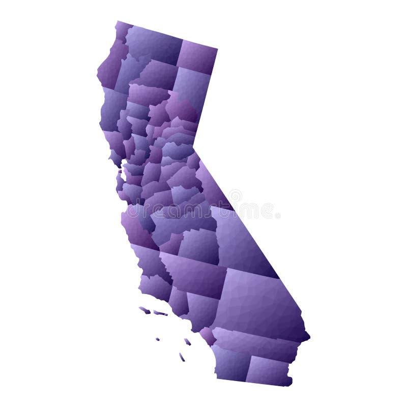 Карта Калифорния иллюстрация вектора