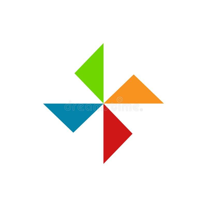 Геометрический символ разнообразия формы треугольника иллюстрация вектора