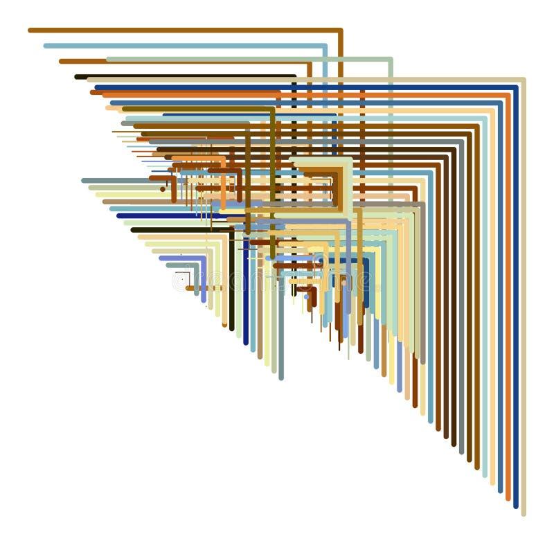 Геометрический схематический треугольник предпосылки выравнивает картину для дизайна Поверхность, обои, холст & грязное иллюстрация штока