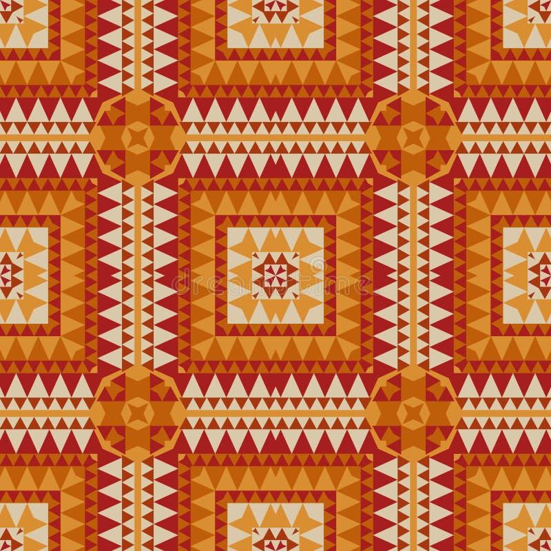 Геометрический с картиной родного, племенного взгляда безшовной бесплатная иллюстрация