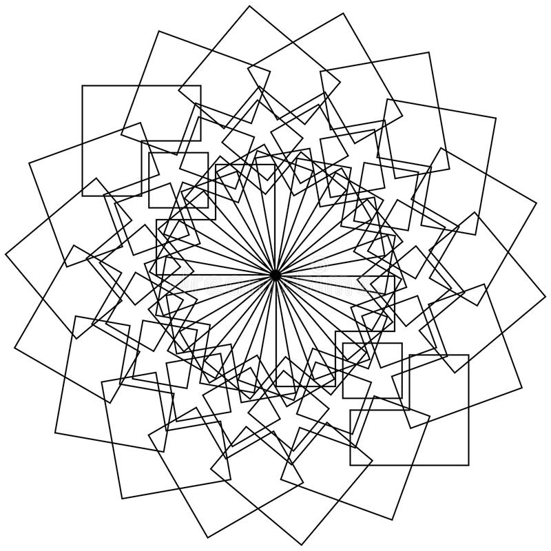 Download Геометрический цветок - круговой цветок лотоса картины, мандала, мотив Иллюстрация вектора - иллюстрации насчитывающей геометрическо, свободно: 81804733