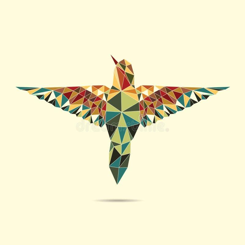 Геометрический цвет конспекта колибри иллюстрация штока