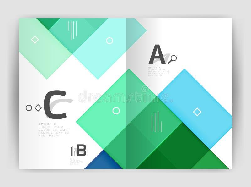 Геометрический шаблон дела брошюры a4 стоковое фото
