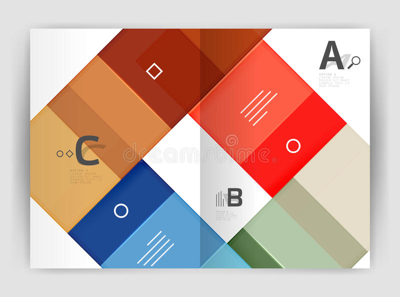 Геометрический шаблон дела брошюры a4 стоковое фото rf