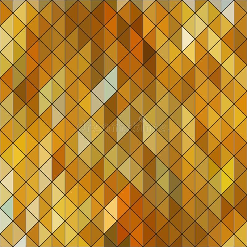 Геометрический элегантный ромбовидный узор сапфира треугольника желтого цвета золота иллюстрация вектора