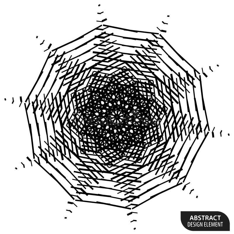 Download Геометрический элемент сделанный линий Абстрактное Monochrome Isola формы Иллюстрация вектора - иллюстрации насчитывающей сделано, элемент: 81813456