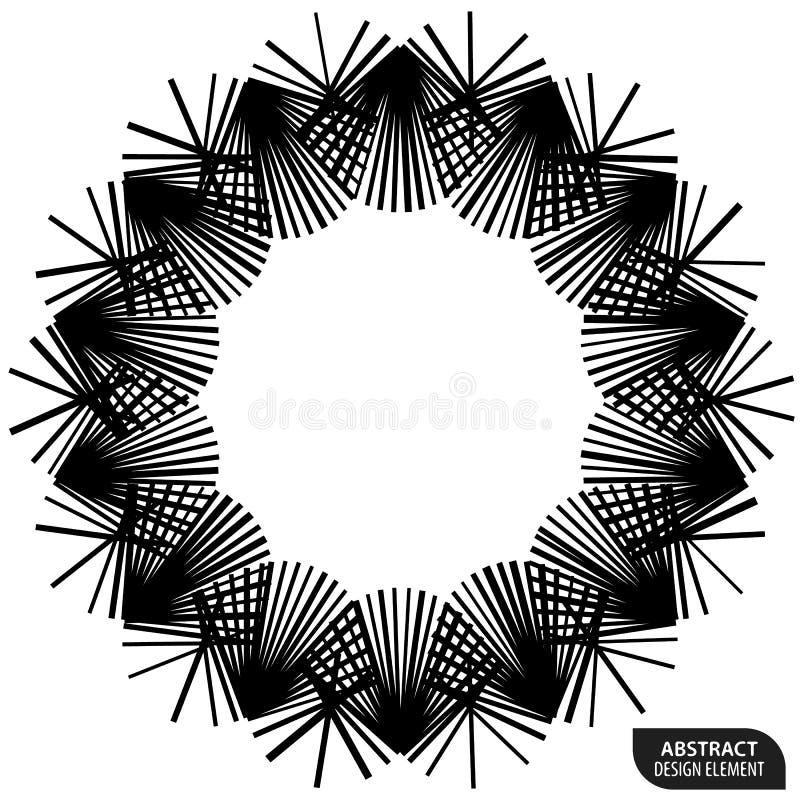 Download Геометрический элемент сделанный линий Абстрактное Monochrome Isola формы Иллюстрация вектора - иллюстрации насчитывающей пересекать, мандала: 81813471