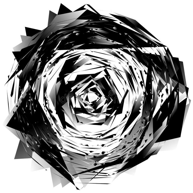 Download Геометрический Monochrome элемент изолированный на белизне Грубый, нервный, Tex Иллюстрация вектора - иллюстрации насчитывающей наконечников, футуристическо: 81805665