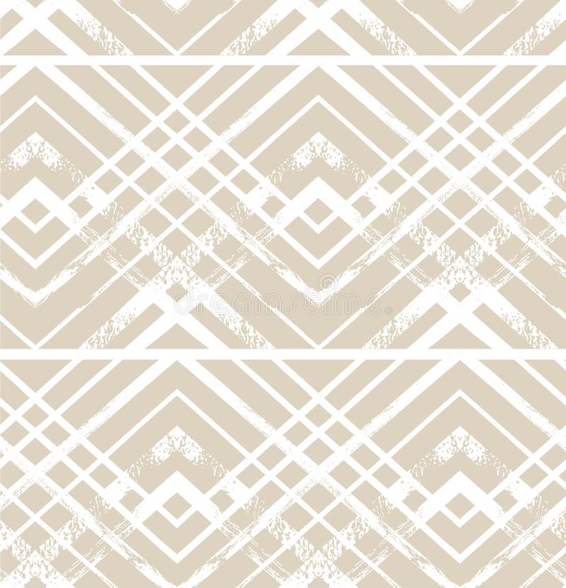 Геометрический Striped орнамент Картина вектора пастельная безшовная самомоднейшая стильная текстура Орнамент украшения рождества иллюстрация вектора