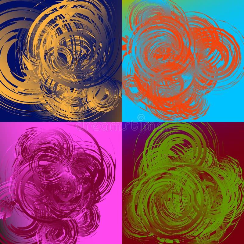 Download Геометрическое абстрактное искусство с случайными скачками спиралями Иллюстрация вектора - иллюстрации насчитывающей иллюстрация, фракталь: 81813858