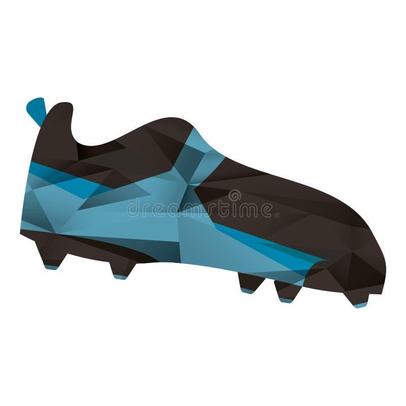 Геометрическое ботинка ботинка американского футбола спиковое абстрактное иллюстрация вектора