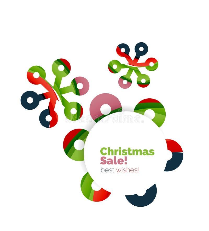 Download Геометрическое знамя объявления продажи или продвижения рождества Иллюстрация вектора - иллюстрации насчитывающей украшение, печать: 81804968