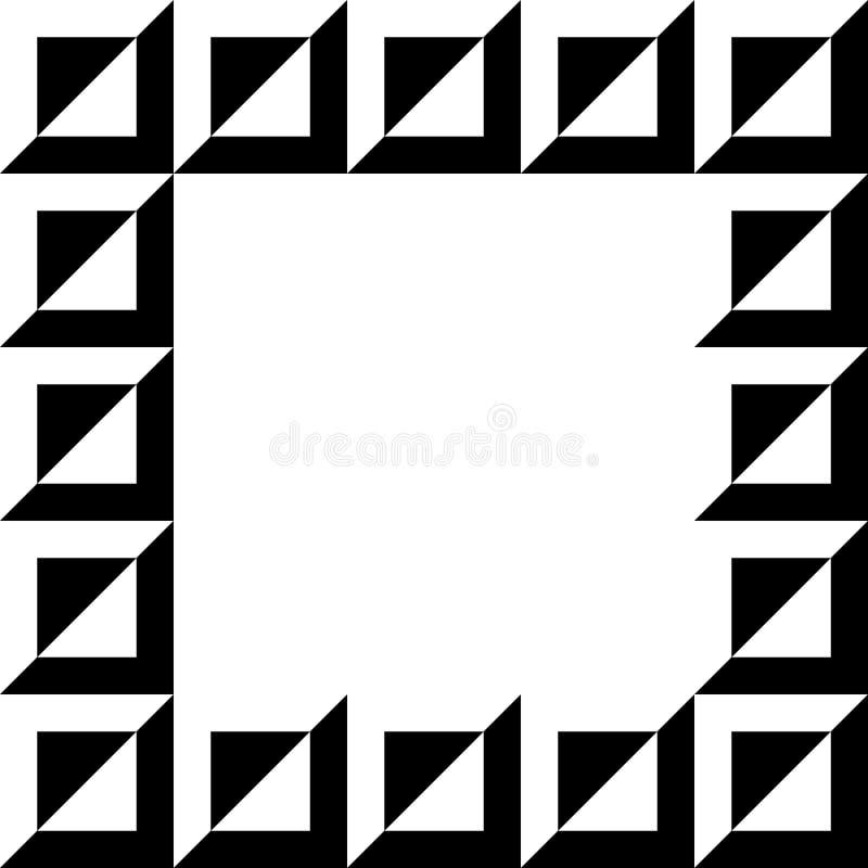 Download Геометрическое изображение, рамка фото в Squarish формате Иллюстрация вектора - иллюстрации насчитывающей пусто, выбейте: 81805827