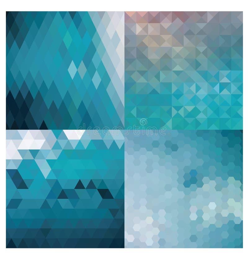 геометрическое предпосылки голубое бесплатная иллюстрация