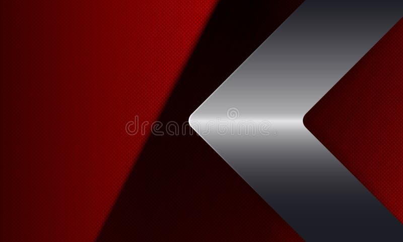 Геометрическое темное - красный дизайн с металлической стрелкой оттенка бесплатная иллюстрация