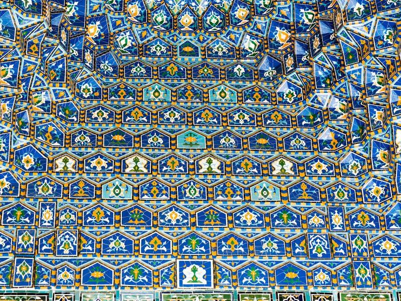 Геометрическое украшение исламской архитектуры Деталь мозаики o стоковые изображения rf
