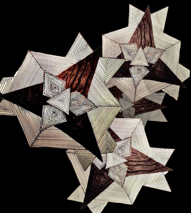 Геометрическое черчение стоковое фото rf