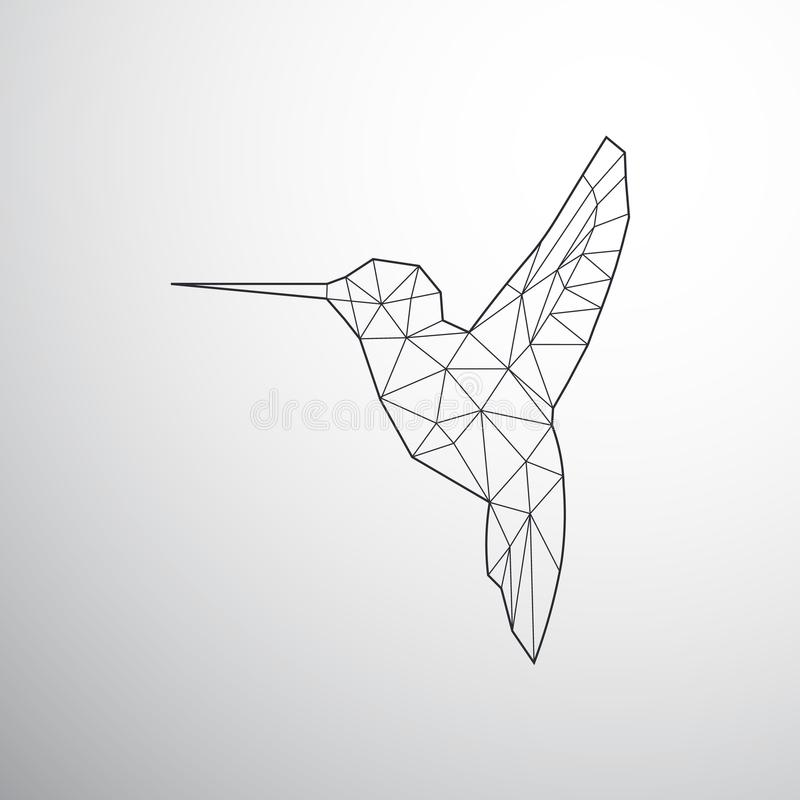 Геометрическое Colibri иллюстрация штока