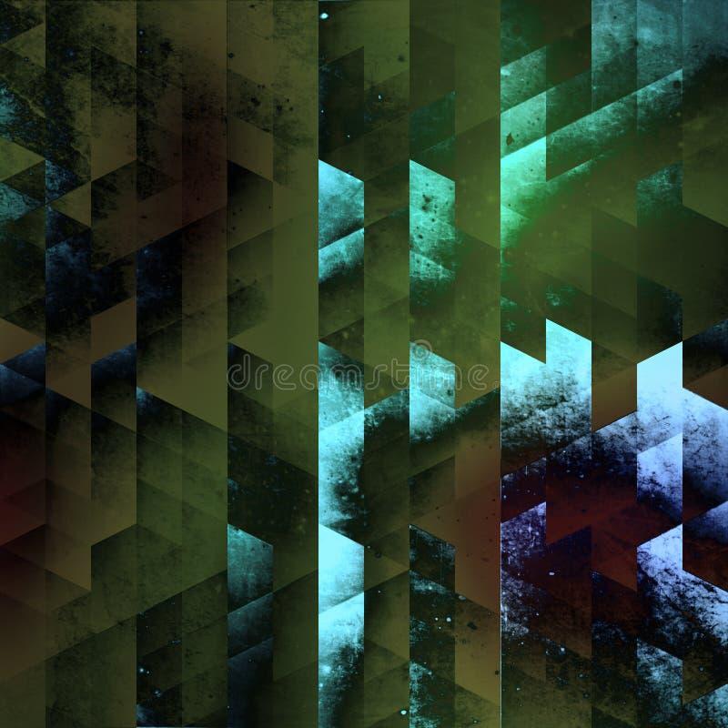 Геометрия абстракции с неимоверными цветами иллюстрация вектора
