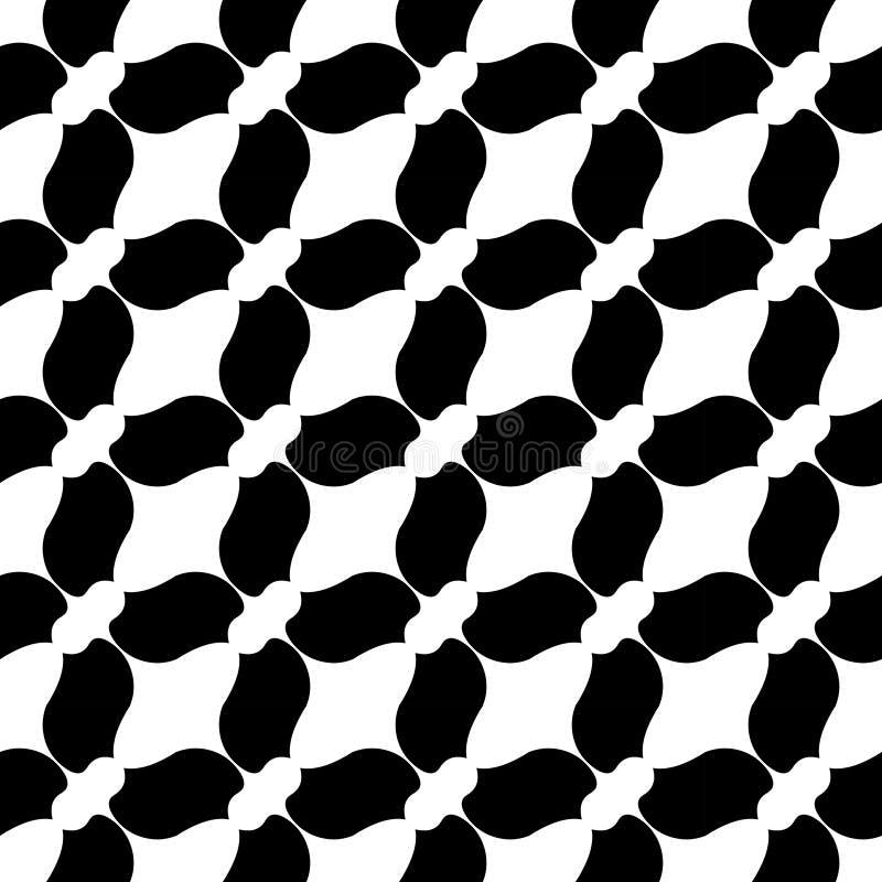 Геометрия вектора современная абстрактная кроет картину черепицей черно-белая безшовная геометрическая предпосылка иллюстрация вектора