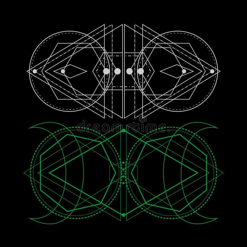 Геометрия вселенной священная иллюстрация штока