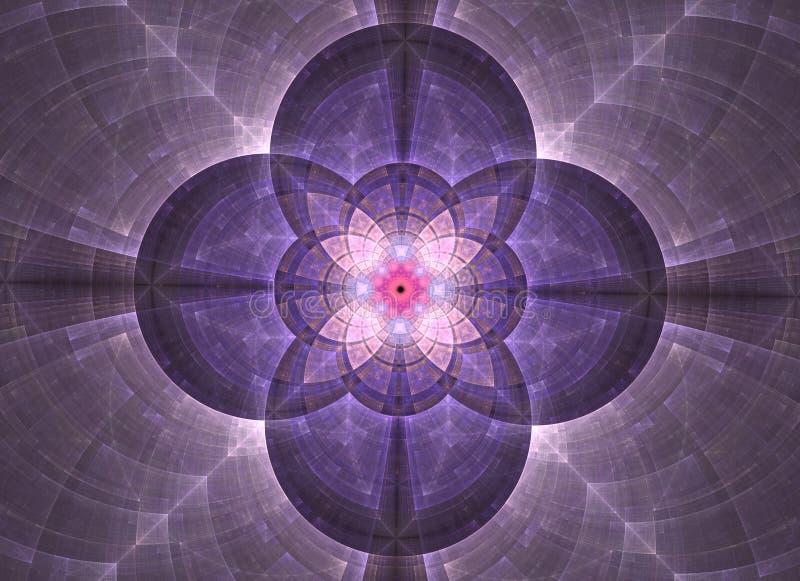 Геометрия конспекта калейдоскопа священная Этническое художественное произведение фрактали иллюстрация вектора