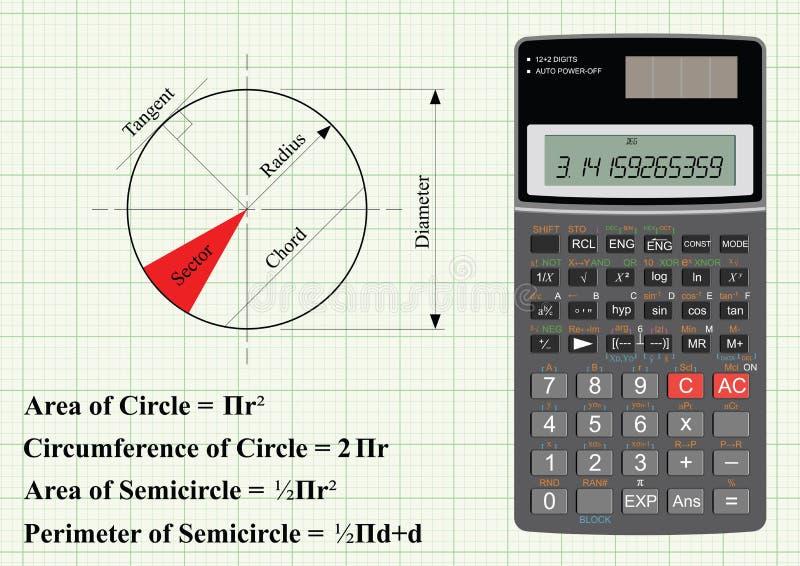 геометрия круга иллюстрация штока