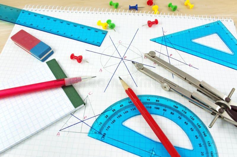 геометрия оборудования стоковое фото