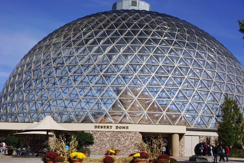 Геодезический стеклянный купол стоковая фотография rf