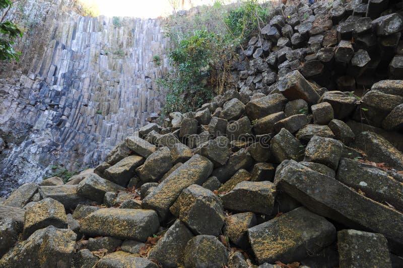 Геологохимическая характеристика водопада Лос Tercios около Suchitoto стоковая фотография rf