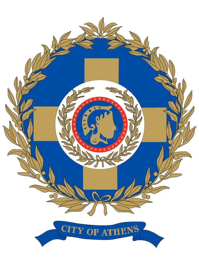 Герб города Афина бесплатная иллюстрация