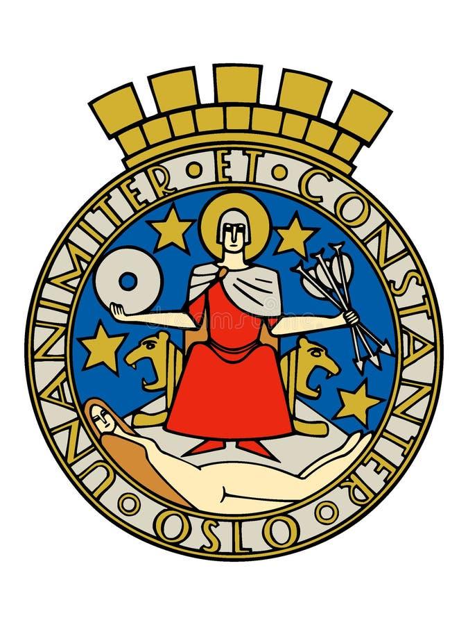 Герб города Осло иллюстрация штока