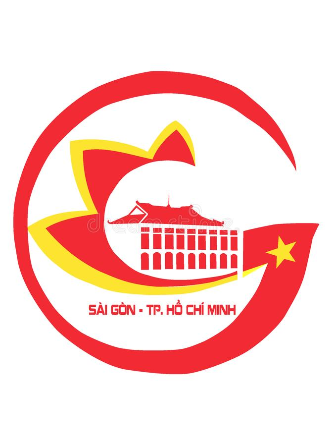 Герб города Хошимина Сайгон иллюстрация вектора