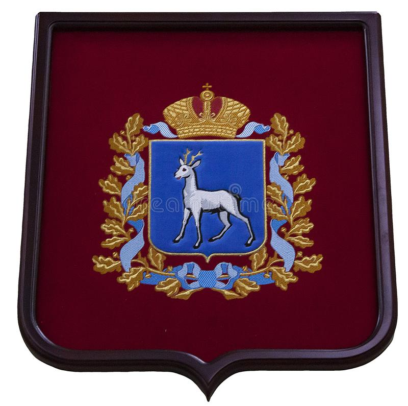Герб зоны самары Российской Федерации стоковое фото rf