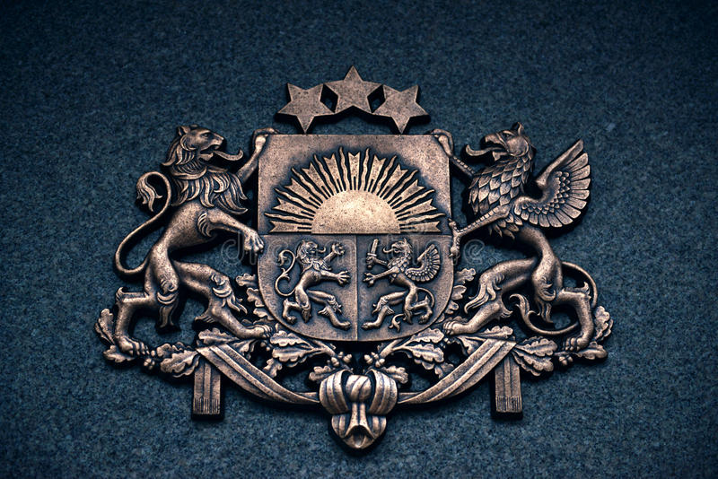 Герб Латвии стоковые фото