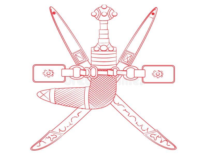 Герб Омана иллюстрация штока