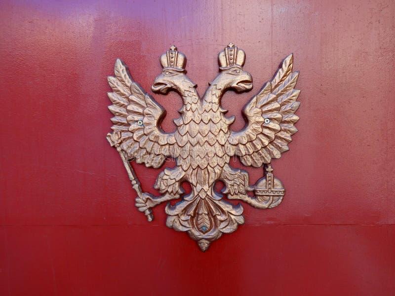 Герб Российской Федерации с двуглавым орлом стоковая фотография rf