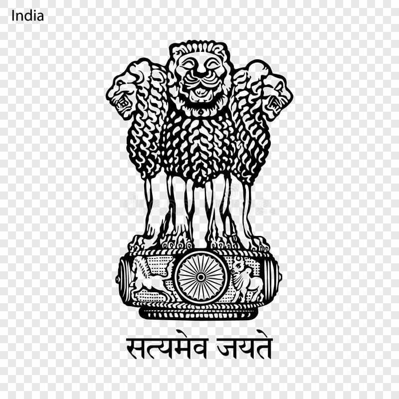Герб страны или символ иллюстрация вектора