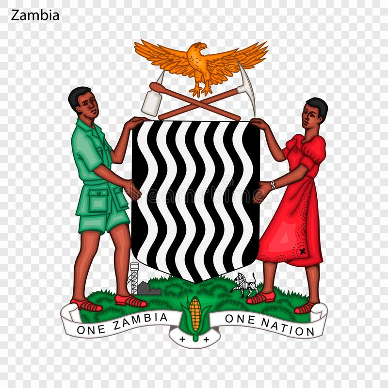 Герб страны или символ иллюстрация штока
